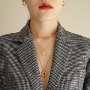 Jewelry - New! Retro Gold Plated Coin Necklaces / Choker Set